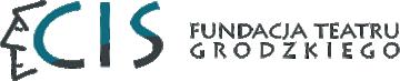 Logo Fundacji Teatru Grodzkiego. Logo utworzone jest z kombinacji słów i grafiki. Po lewej stronie widnieje prosty rysunek przedstawiający twarz człowieka oraz skrót CIS oznaczający Centrum Integracji Społecznej. Po prawej widnieje napis Fundacja Teatru Grodzkiego. Logo w odcieniu ciemnozielonym przechodzącym w czerń.